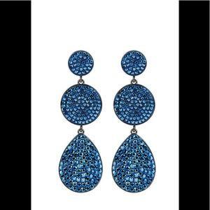 Henri Bendel Blue Rock Linear Earrings 🌺💐